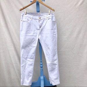 Michael Kors white skinny jeans cropped sz 10